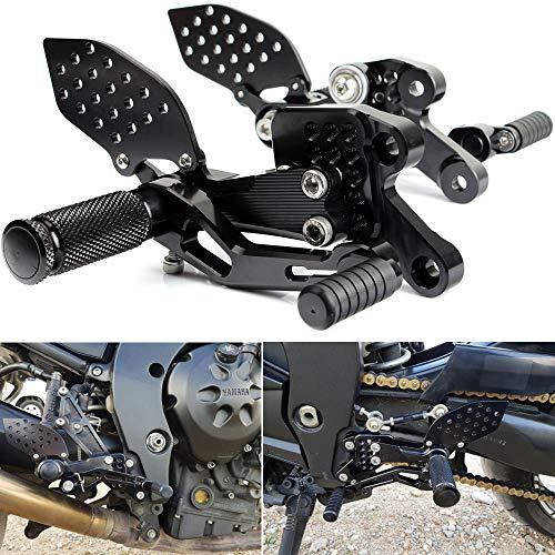 TARAZON CNC moto regolabile poggiapiedi rearset pedane per Yamaha FZ1 FZ1S Fazer 1000 2006-2015/ FZ8 (non-ABS) 2010-2013