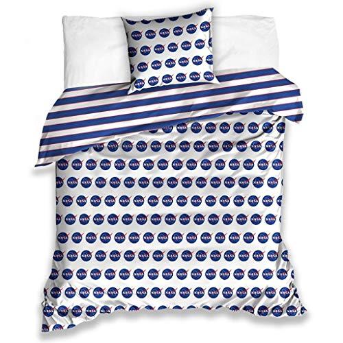 Juego de cama NASA – Funda nórdica de 140 x 200 cm + funda de almohada de 70 x 90 cm