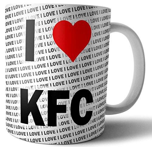 I Love KFC – Tee – Kaffee – Tasse – Tasse – Geburtstag – Weihnachten – Geschenk