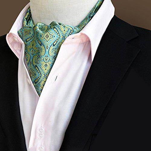 HAIPENG Mannen dassjaal mannen bedrijfskleding hemd hals handdoek huwelijk jacquard 8 kleuren 1/2 naar keuze, 118x16cm Gentleman formele gelegenheden 2-piece 8#