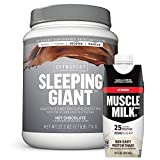 Cytosport Sleeping Giant Nighttime Protein Supplement Mix with Melatonin and Tryptophan, Hot Chocolate with Protein Shake, Vanilla Crème