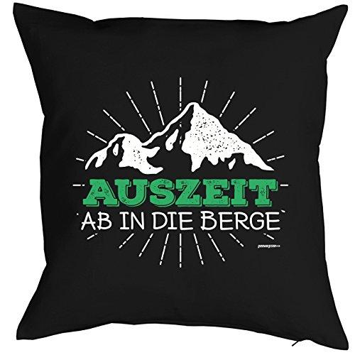 Coussin : Pause À PARTIR DE dans les montagnes. Petit présente avec motif imprimé