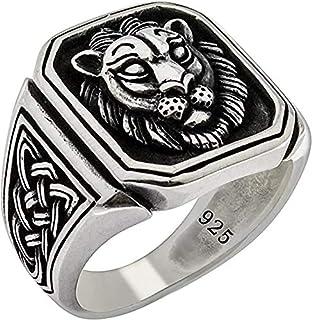 Special Lion Gothic Biker Solid 925 Stelring Silver Turkish Handmade Retro Men's Ring