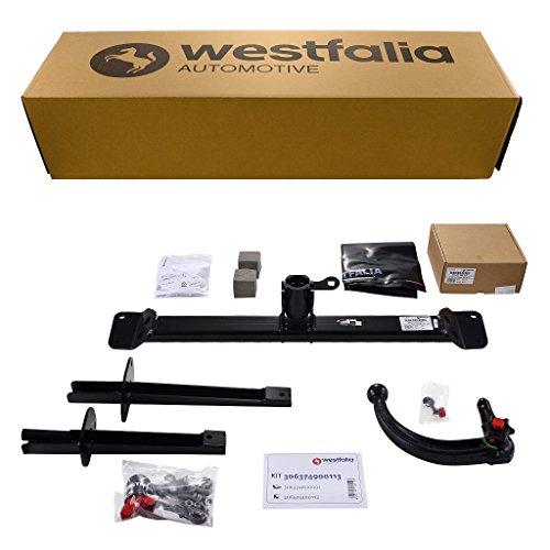 Westfalia Abnehmbare Anhängerkupplung - AHK für Fiat Punto EVO (ab BJ 10/2009) im Set mit 13-poligem fahrzeugspezifischen Elektrosatz