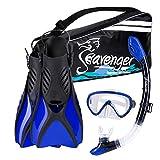 Seavenger Diving Snorkel Set - (Blue) - M