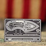 Tiny Survival Card - Made in USA: A 17 Tool Survival Kit + Knife That Fits in Your Wallet - Ultimate EDC, Multitool Card for Your Wallet - Great Gift!