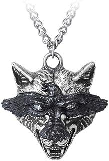 Alchemy Gothic England - Ravenwulf Wolf Head Pendant