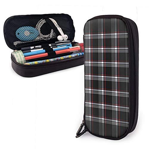 Großes Federmäppchen, Golf GTI, kariert, Bleistift, Make-up-Tasche, Schulbedarf, geeignet für Mittelschule und Studenten