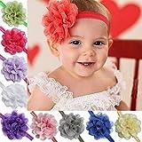 EFiEL Baby Mädchen Kinder Stirnband Kopfband Blumen Kopftuch Haarband Hasenohren Stirnbänder Haarschmuck (10 Pcs)