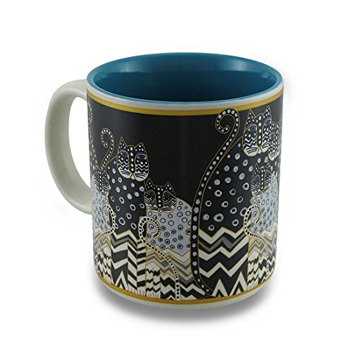 Laurel Burch Artistic Mug Collection, Polka Dot Gatos, One Size, Multicolor