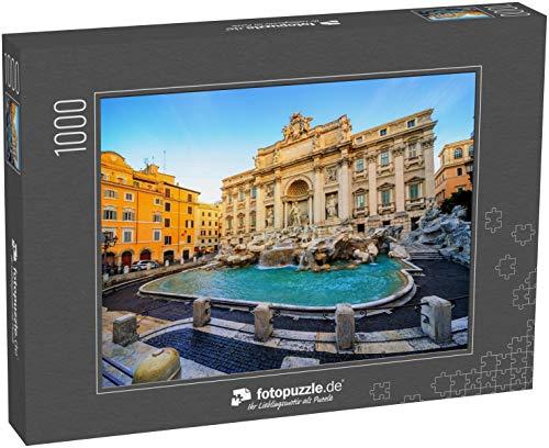 Puzzle 1000 Teile Der Trevi-Brunnen, Rom, Italien, im Morgenlicht - Klassische Puzzle, 1000/200/2000 Teile, in edler Motiv-Schachtel, Fotopuzzle-Kollektion 'Italien'