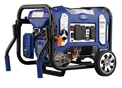 ford gas generators Ford 5,250W Dual Fuel Portable Generator with Switch & Go Technology and Remote Start, FG5250PBR