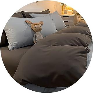 طقم سرير من أربع قطع ملاءة سرير مفردة وغطاء لحاف أربعة مواسم لفراش الربيع والخريف نسيج قطني مغسول لطيف على الجلد يمكن أن ي...