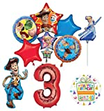 Mayflower Products Toy Story Party Supplies Woody and Friends 3rd Birthday Balloon Bouquet Decorations