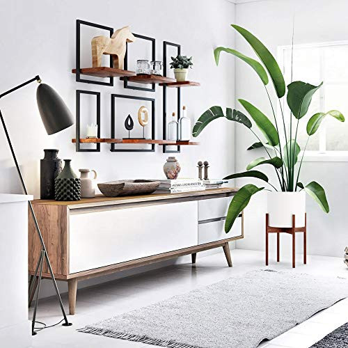 Fox & Fern - Set of 3 - Floating Shelves Shelfmate Bundle of Solid Wood - Easy Hanging Modular Wall Shelf - Bedroom, Bathroom, Kitchen