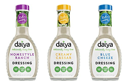Daiya Salad Dressing Variety Pack, Dairy Free :: Homestyle Ranch, Creamy Caesar, Blue Cheeze :: Vegan, Gluten Free, Soy Free, Egg Free, Non GMO, 8.36 Oz. (3 Pack)