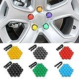 DFYYQ Coche 20pcs Ruedas de 17 mm Ruedas Tuercas de plástico Tornear Herramientas de eliminación de Tapa para Audi para VW (Color : Yellow)