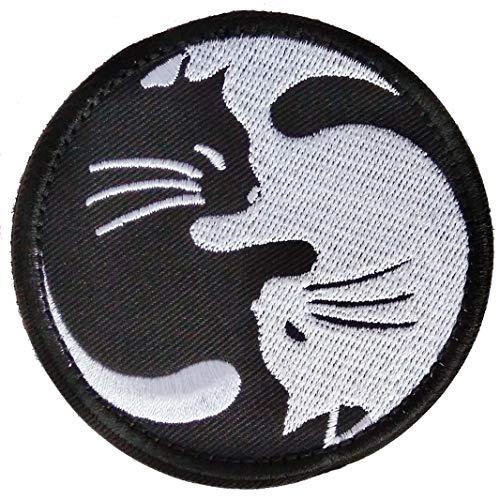 (LOLO import) 刺繍 ベルクロワッペン 陰陽猫 霊幻道士 太極図 猫
