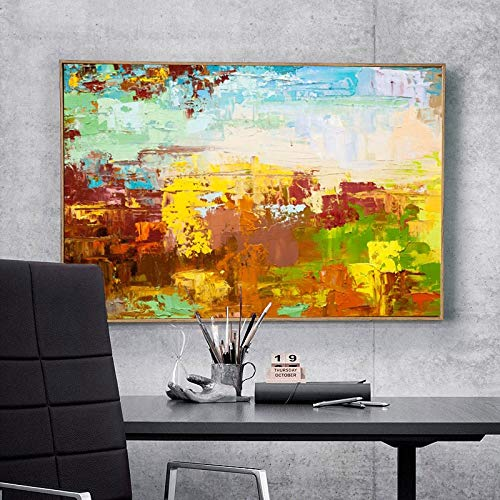 KWzEQ Moderne abstrakte Kunstfarbölgemälde-Wanddekorationskunst, die für Wohnzimmerdekoration verwendet Wird,Rahmenlose Malerei,45x67cm