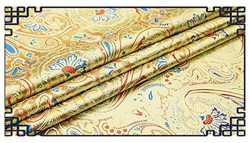VIAIA Tela de la Belleza de la Tela Brocado para la Tela de la Flor para el Material de Bricolaje para la Costura (Color : Champagne, Tamaño : 50x75cm)