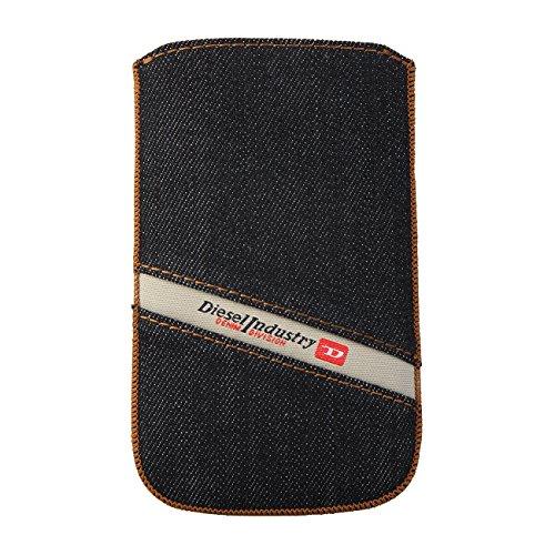 DIESEL X01038 Universal Slim Sleeve Handytasche, Hülle Cover, Denim, 81x132mm, für Nokia N900, Blackberry Torch/Bold/Curve, HTC Touch HD, iPhone 3G, 3GS, 4, 4s, 5, 5c, 5s, HTC One, Nokia E7, Samsung Galaxy Xperia, Galaxy S9000, HTC Desire, Moto Defy