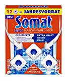 Somat Maschinenreiniger Tabs, Maxipack, 12 Stück, hygienisch und sauber, ohne extra Spülgang