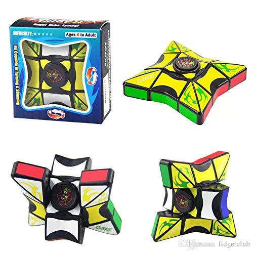 Unique Fidget Spinner - Fidget Spinner/Puzzle Cube Combination. Twists Like a Rubik's Cube & A Fidget Spinner