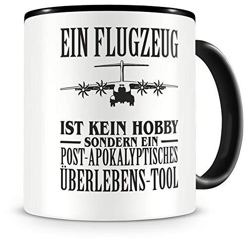 Samunshi® Ein Flugzeug ist kein Hobby Tasse Kaffeetasse Teetasse Kaffeepott Kaffeebecher Becher
