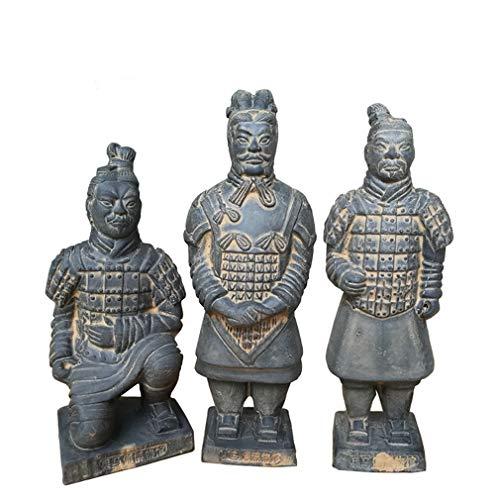 Guerreros de terracota, Duplicado China antigua Terracota Guerreros Escultura Pantalla de exhibición en el hogar Exhibición
