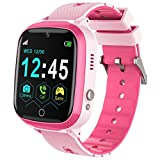 Kids Smart Watch for Boys Girls, Kids Smartwatch with Call SOS Camera Music Player Alarm Clock Calculator Calendar 7 Games Touch Screen Watchs Toys Birthday Gifts for 4-12 Year Old Children (Pink)