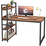 CubiCubi Computer Desk 47 inch with Storage Shelves Study Writing Table for Home Office,Modern...