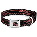 Buckle-Down DC-WCL011-S CLL Dodge Challenger R/T Emblem Full Color Black/White/Red Dog Collar, Small/9-15'