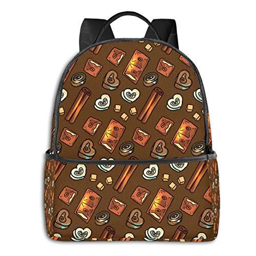 LGBT Rucksack für Herren und Damen, hohe Dichte, dick, für Reisen, Schule, Schultertasche Heiße Schokolade Einheitsgröße