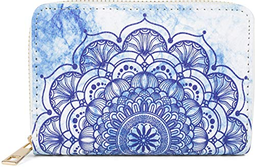 styleBREAKER Women's Small Purse with Colourful Mandala Ornament Pattern, Ethnic Style, Zip, Purse 02040149