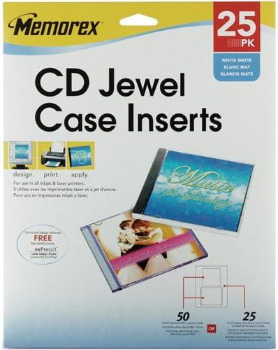 Memorex 3202-0710 CD OFFicial shop DVD Jewel Recommended Case MEMOREX Inserts 32020710