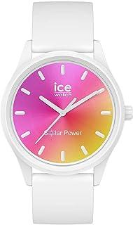 Ice-Watch - Ice Solar Power Sunset California - Montre Blanche pour Femme avec Bracelet en Silicone - 018475 (Small)