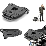 Givi - Base para baúl V46 Monokey S410 negro universal para moto scooter con 6 puntos de anclaje para ganchos de red elástica