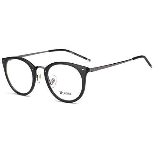 debb0b7dc46a DONNA Stylish Clear Lens Frame Glasses Samll Circle Blue Light Blocking for  Computer DN08