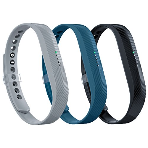 AIUNIT Compatible Fitbit Flex 2 Band, Replacement for Fitbit Flex 2 Accessory Bands Fashion Sport Fitness Wristbands w/Fastener Clasp for Fitbit Flex 2 3 Pack Men Women Teens Kids Large No Tracker