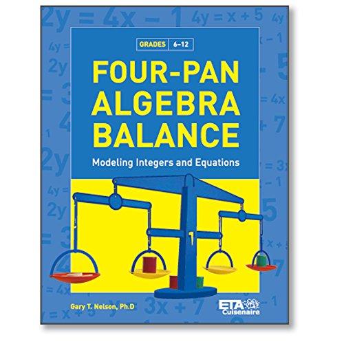Price comparison product image hand2mind ETA Four-Pan Algebra Balance: Modeling Integers & Equations Book