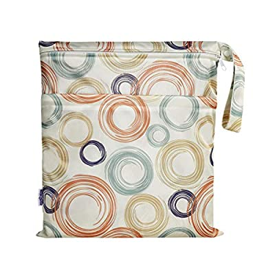 Cloth Diaper Wet Dry Bag Waterproof Reusable Gym Bag, Big Size Wet Cloths Bag with 2 Zippered Pockets for Travel Beach by SoarwgKids by Zhejiang Lydoo Industry Co.,Ltd