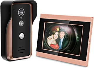 7 inch Touch Screen Wired WiFi Video Camera Door Phone Ring Intercom Home Smart Doorbell Kit Security Camera System (US Plug)