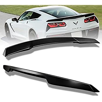 ECOTRIC Rear Trunk Spoiler Car Side Winglets Compatible with 2014-2019 Chevy Corvette C7 Z06 Stage 2 Trunk Lid Wing Spoiler