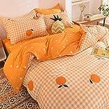 QXXKJDS Juego de ropa de cama para cama de matrimonio, funda de edredón y funda de almohada, diseño de dibujos animados, tamaño Queen para Adlut Home Textile Home (color: 10, tamaño: 180 x 220)