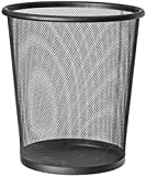 Z-Enterprise x Finest Black Mesh Waste Paper Rubbish Bin Metal Small for Office, Living Rooms and Bedrooms .(Pack of 1)