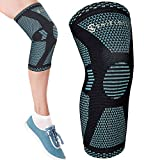 (Medium) ShieldTech Knee Compression Sleeve for Men & Women - Knee Support Brace for Workout, Pain Relief, Running, Arthritis, Meniscus, ACL, MCL, LCL, PCL Tear