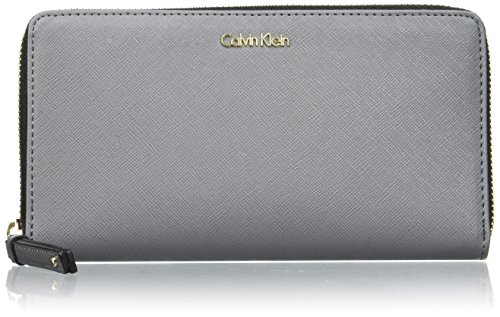 Calvin Klein - Marissa Large Ziparo, Carteras Mujer, Nero (Steel Grey), 15x30x36...