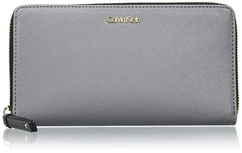 Calvin Klein - Marissa Large Ziparo, Carteras Mujer, Nero (Steel Grey), 15x30x36 cm (W x H L)