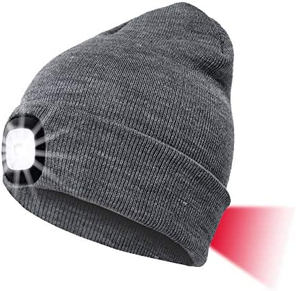 Unisex LED Beanie Hat with Light Gifts for Men Dad Him Women USB Rechargeable Winter Knit Lighted product image