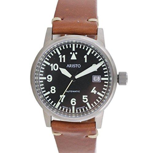Aristo Unisex Uhr Armbanduhr Vintage Fliegeruhr Automatik Titan 5H100
